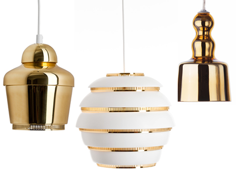 Artek-gold-pendant-lighting