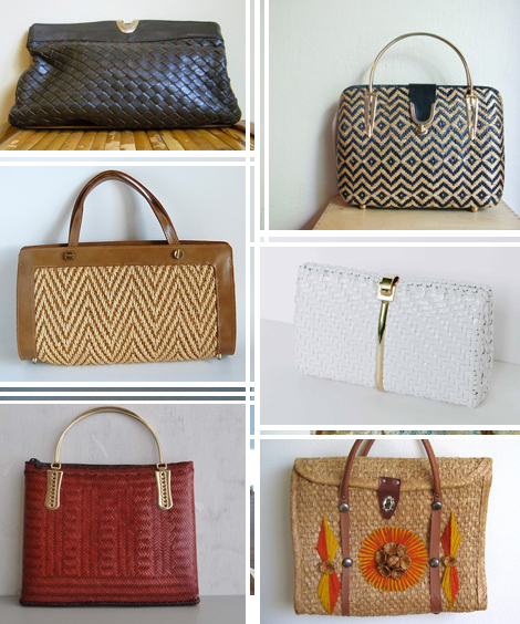 Vintage-woven-bags