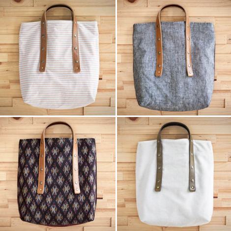 Fabric-and-handle-bags