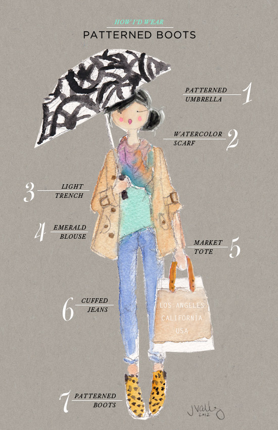 Oh Joy | How I'd Wear Patterned Boots