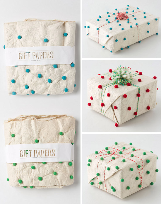 Anthropologie-pom-pom-gift-wrap