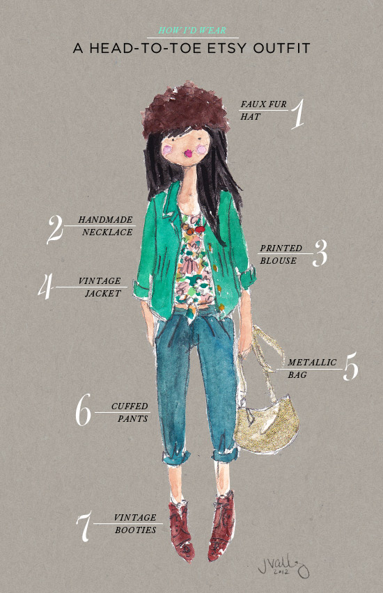 How I D Wear A Head To Toe Etsy Outfit Oh Joy