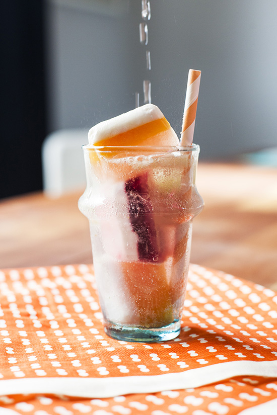 Oh Joy   Fruity Summer Striped Ice Cubes