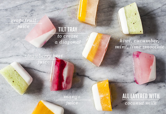 Oh Joy | Fruity Summer Striped Ice Cubes