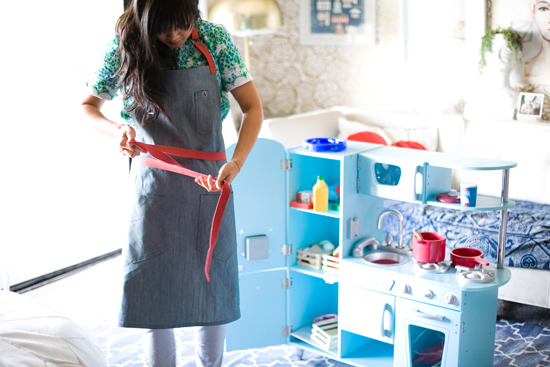 Oh Joy aprons by Hedley and Bennett | photo by Bonnie Tsang