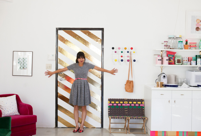 Oh Joy | Contact Paper Door DIY