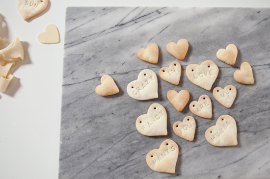 Oh Joy | Pie Crust Conversation Hearts