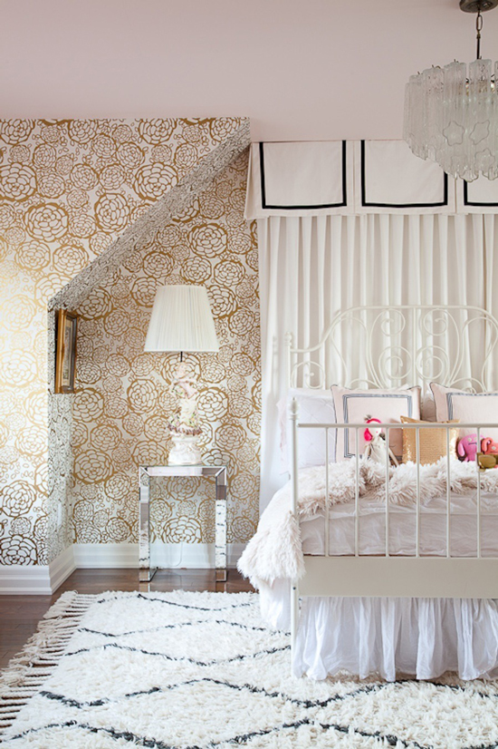 Oh Joy wallpaper / Christine Dovey girl's room