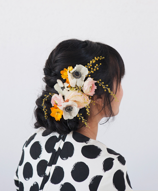 Oh Joy + Irrelephant | Pretty Floral Updo