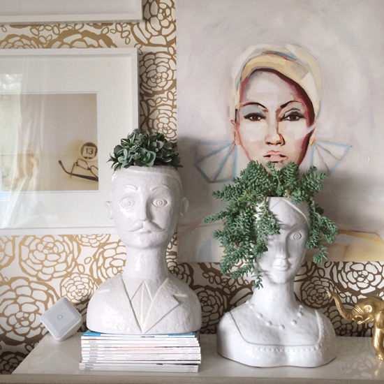 Oh Joy's Living Room | Bust Planters