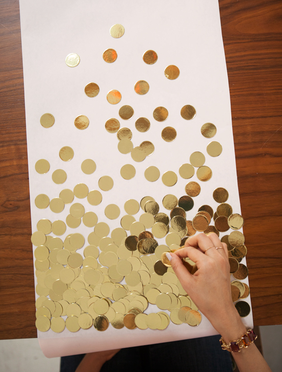 DIY Confetti Table Runner