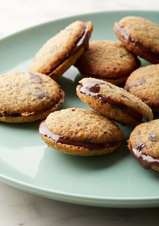 Chocolate Hazelnut Cookie Sandwiches (Gluten-free)