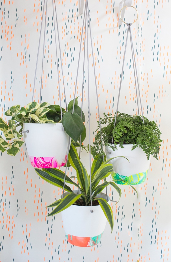 Marbled Hanging Planter DIY