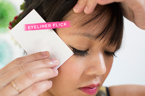 A Makeup Bump-Up / Eyeliner Flick
