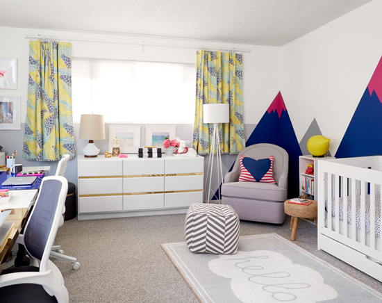 Oh Joy nursery/office by Emily Henderson