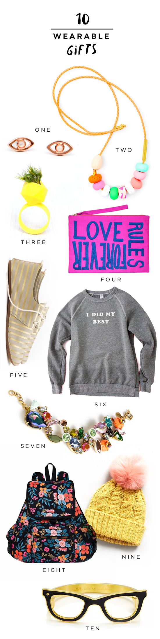 10 Wearable Gifts
