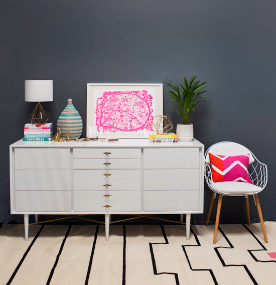 oh joy / 3 ways to style a vintage dresser