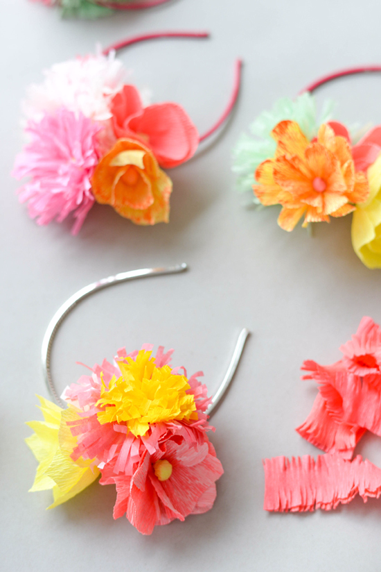 Oh Happy Day / Paper Flower Headbands