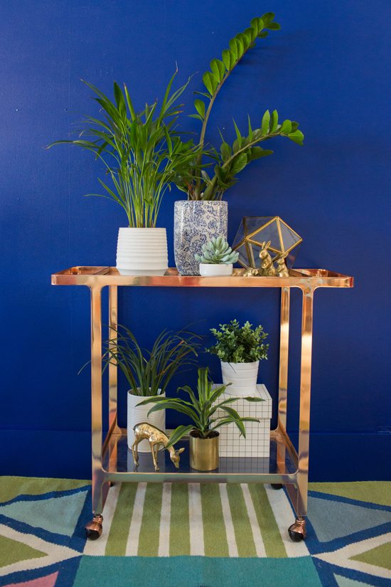 Three Ways to Style a Bar Cart