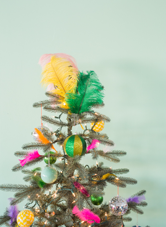 a feather christmas tree!