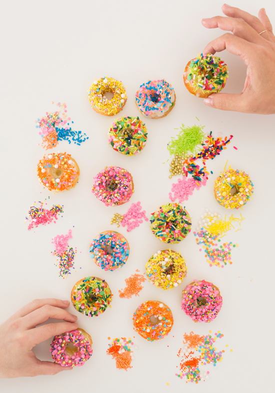sprinkle party donuts