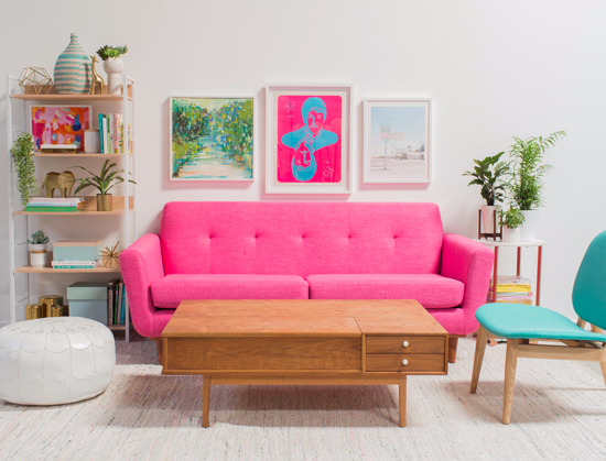 Green Pink Living Room