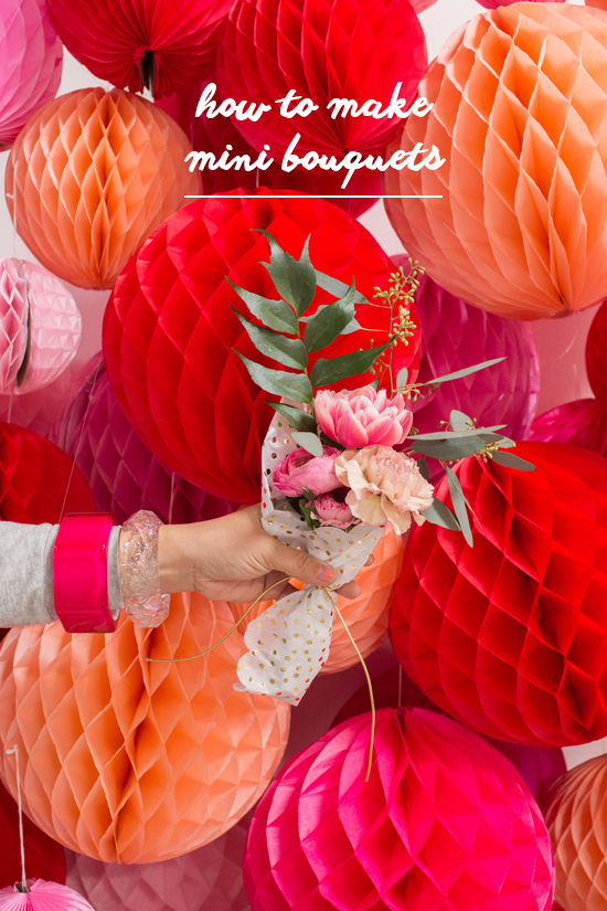 how to make mini bouquets