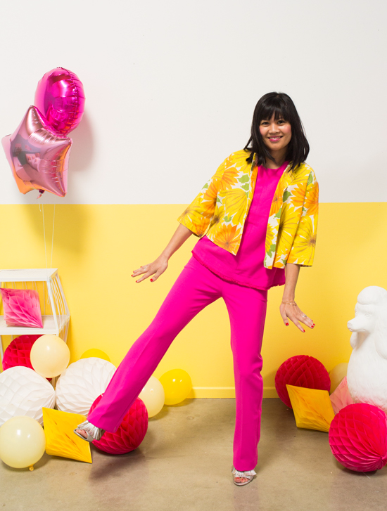 color adventures: oh joy wears yellow and pink