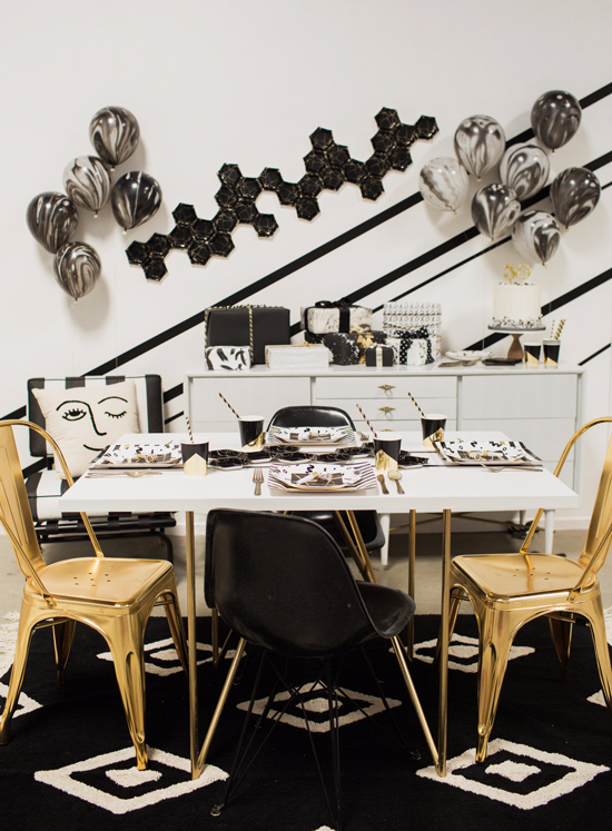color adventures: a black & white dinner party...