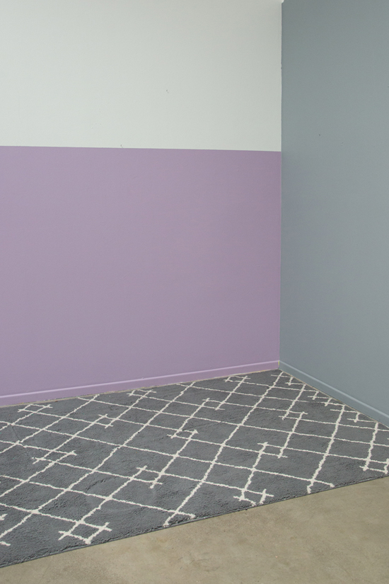 color adventures: a purple & grey small lounge area