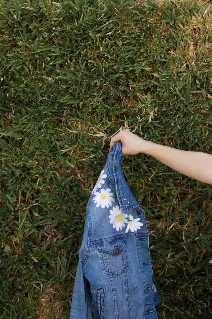 diy daisy patch jacket