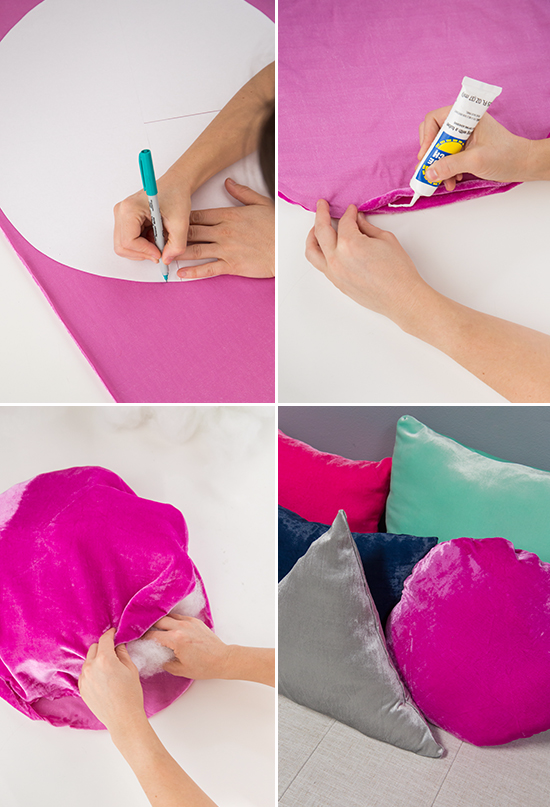DIY Velvet Pillows / Oh Joy!