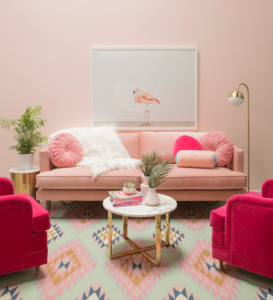 Oh Joy! : a pretty in pink living room... - Oh Joy!