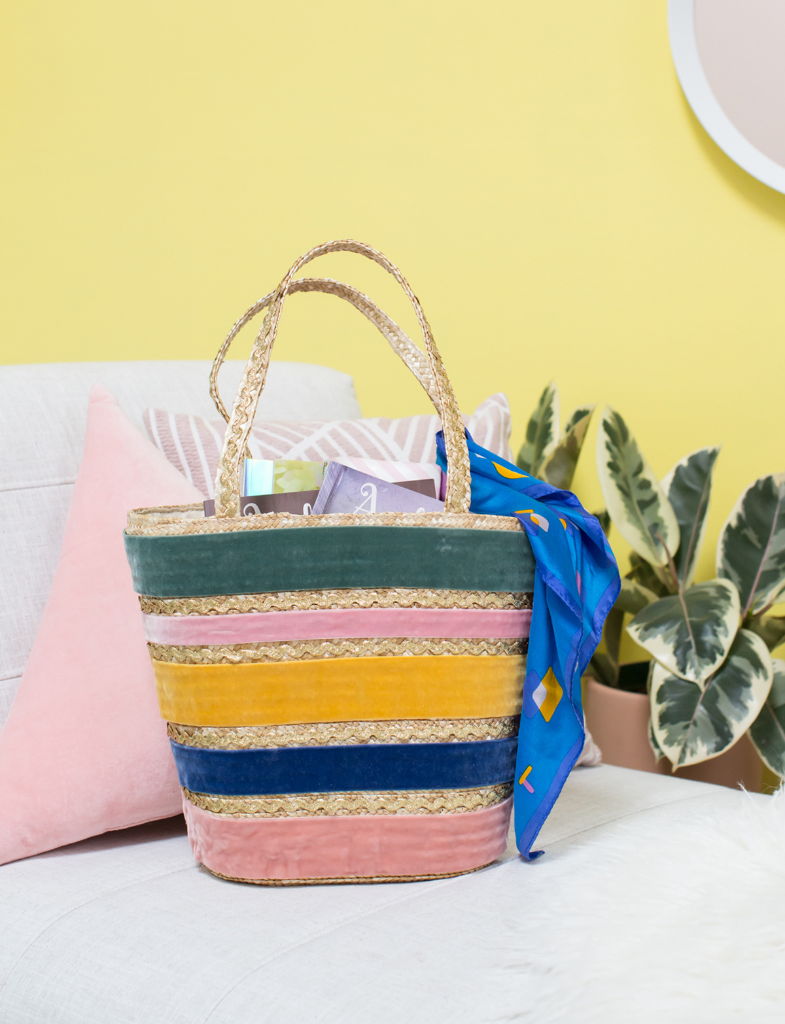 A Velvet and Ric Rac Straw Tote DIY / Oh Joy!