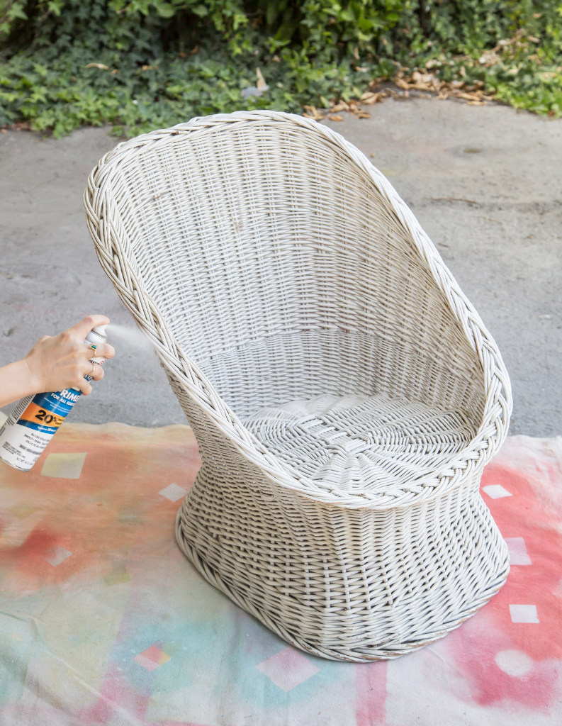 An Easy Way to Transform an Old Wicker Chair / Oh Joy!