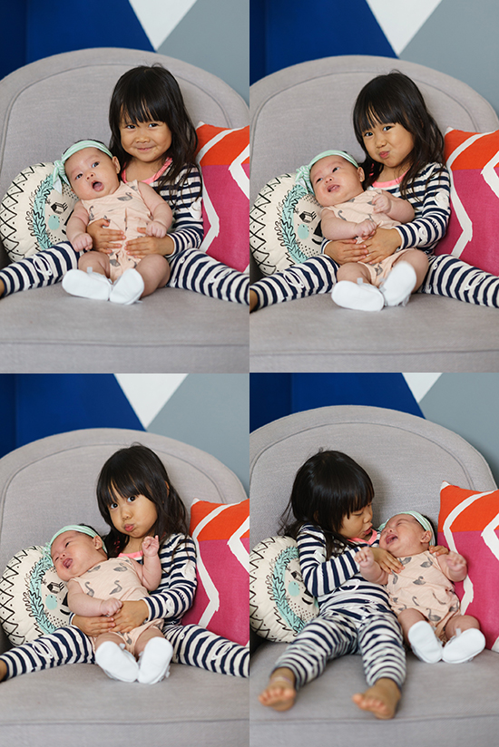 Oh Joy / Monthly Baby Photo with Big Sis
