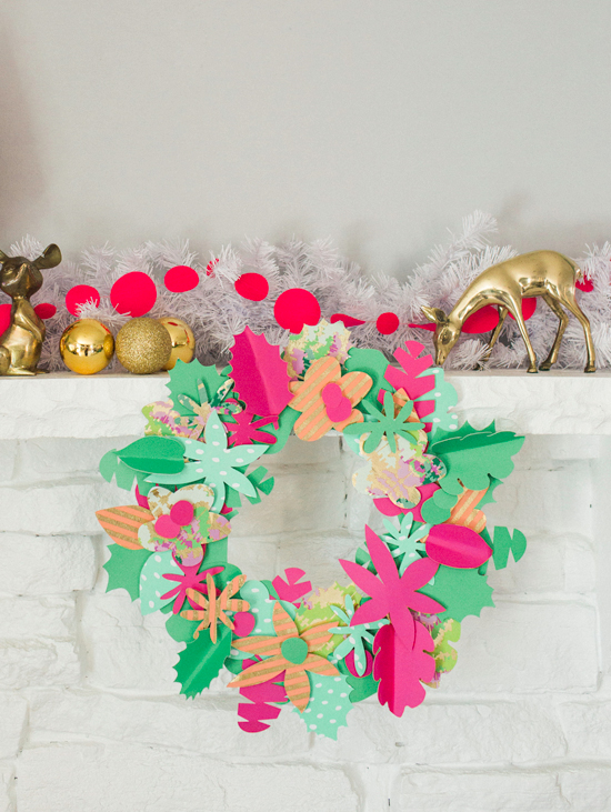 Paper Christmas Wreath Ideas.A Paper Holiday Wreath Diy Oh Joy
