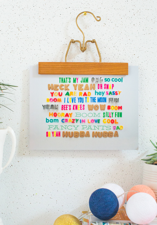 "Oh Joy ""Way with Words"" print"