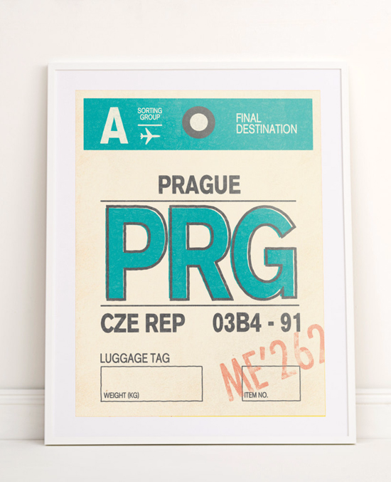 Prague print by Sketchmore