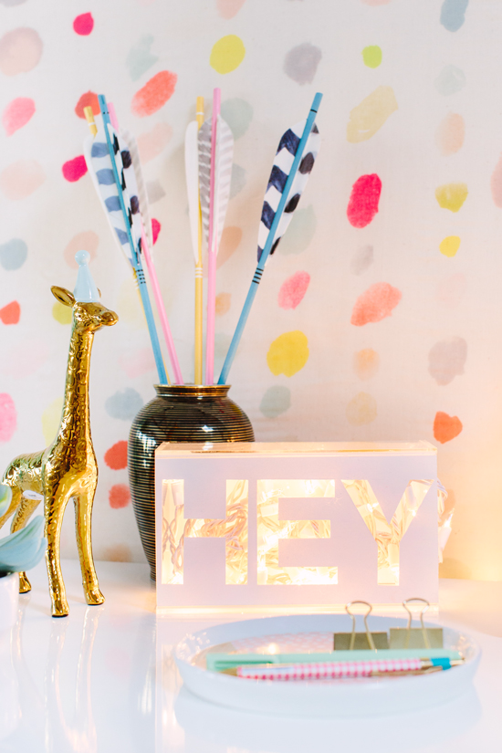 typography light box DIY