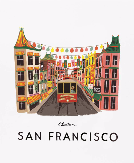 Rifle Paper Co. San Francisco Print