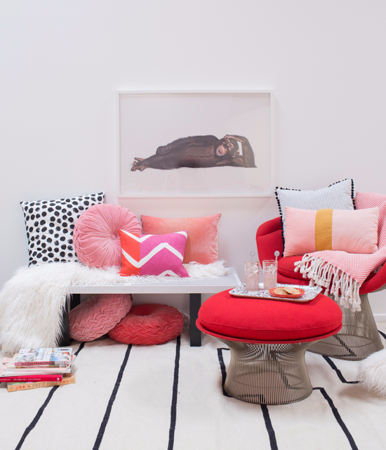 color adventures: a red and blush room! - Oh Joy!