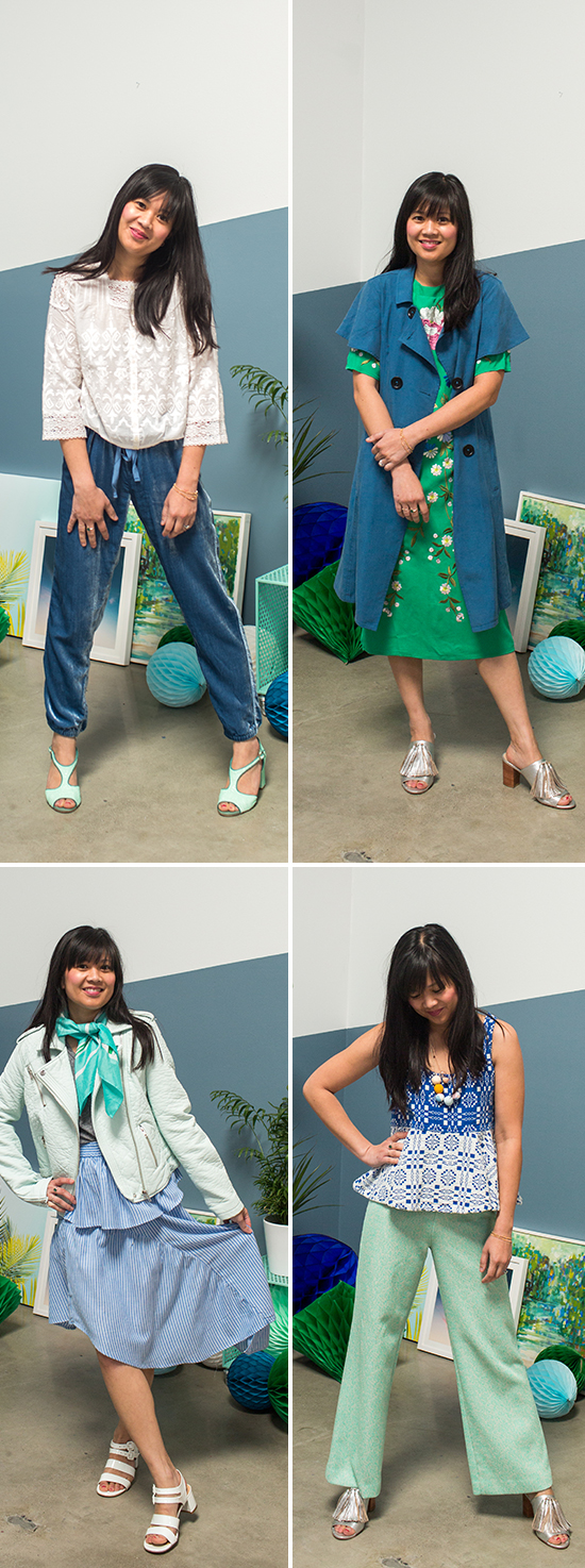 Green-blue-outfits