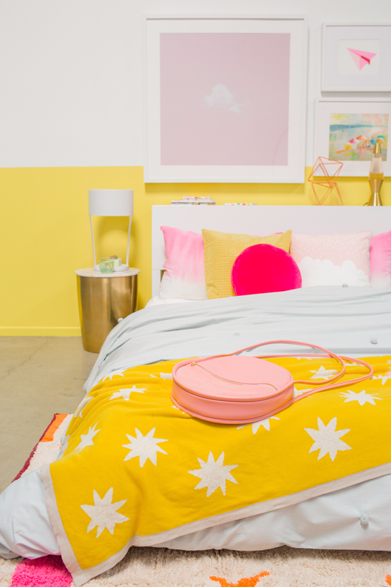 Color Adventures A Pink Yellow Bedroom