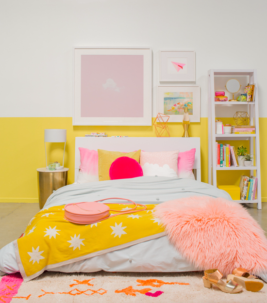 color adventures: a pink & yellow bedroom... - Oh Joy!