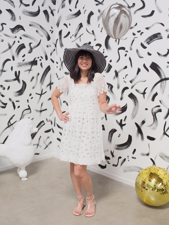 color adventures: oh joy wears black & white!