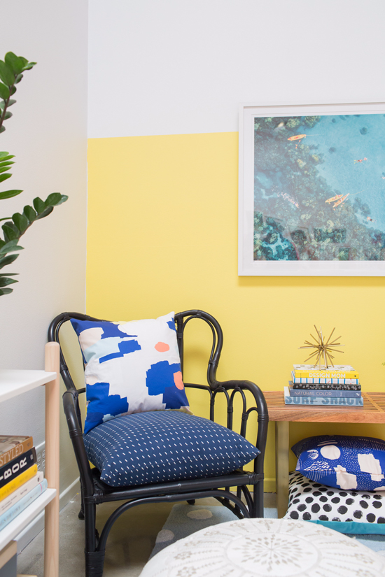 color adventures: a yellow and blue home office! - Oh Joy!