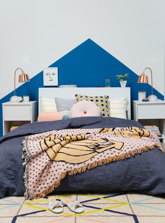 color adventures: a yellow and blue bedroom! - Oh Joy!