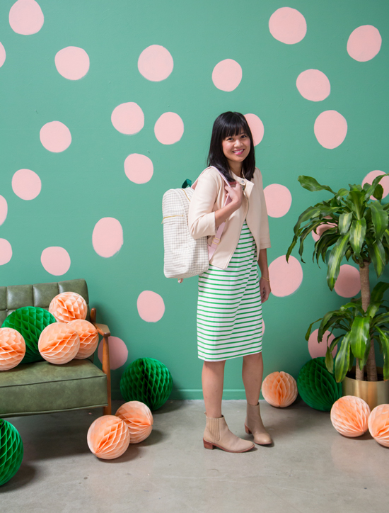 Color Adventures: Oh Joy Wears Peach and Green!