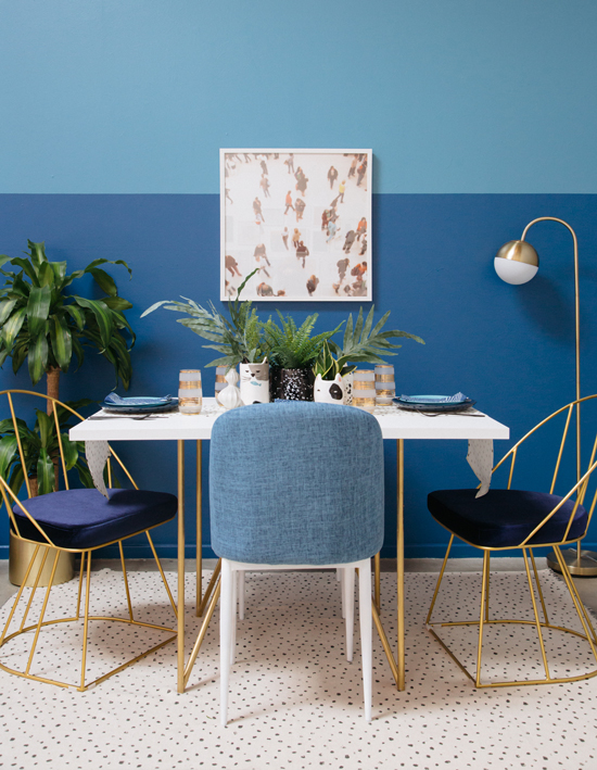 Color Adventures: A Blue Dining Room / Oh Joy!